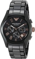 Emporio Armani Men's AR1410 Ceramica Stainless Steel Watch