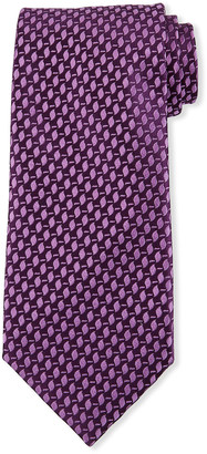 Charvet Men's Raised Geometrics Silk Tie