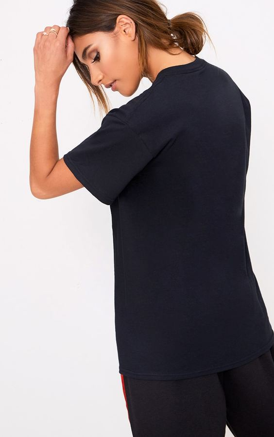 PrettyLittleThing Black Iconic Slogan T Shirt