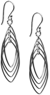 Giani Bernini Triple Oval Drop Earrings in Sterling Silver, Created For Macy's