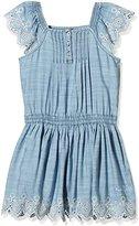 Pepe Jeans Girl's Plain Dress - Blue -