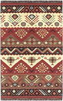 Surya JT8 Jewel Tone Southwest Inspired Hand Woven 100% Wool Rust Red Rug