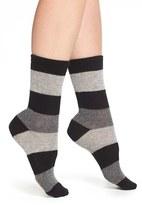 Nordstrom Women's 'Luxury' Patterned Crew Socks