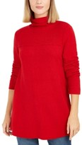 Style&Co. Style & Co Exposed-Seam Mock-Neck Tunic Sweater, Created For Macy's
