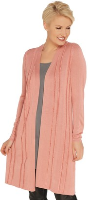 Halston H By H by Open Front Cardigan with Eyelash Detail