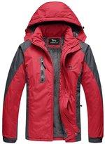 WHENOW Men's Winter Jacket Ski Snow Climbing Hiking Warm Coat Outdoor Sports Jacket M