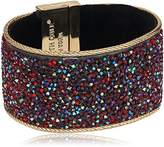 """Kenneth Cole New York Items"""" Gold Statement with Sprinkle Stone Bracelet"""