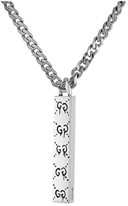 Gucci Ghost Necklace with Pendant (Silver) Necklace