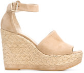 Stuart Weitzman Sohojute wedge sandals - women - Raffia/Leather/Suede/rubber - 37