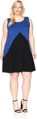 Karen Kane Women's Plus Size Colorblock Dress