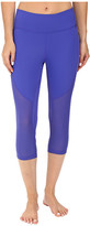 Zobha Fitted Capris with Contrast Mesh