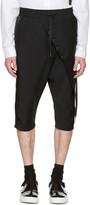 D.gnak By Kang.d Black Septum Rings Wrap Shorts