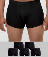 Asos PLUS Trunks In Black 5 Pack SAVE