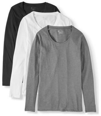 No Boundaries Juniors' Everyday Long-Sleeve T-Shirt 3-Pack