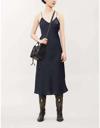 BA&SH Cienna crossover-back satin dress