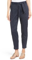 Women's Classiques Entier Belted Pinstripe Ankle Pants