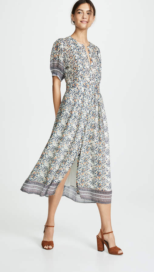 Sea Maya Short Sleeve Midi Dress