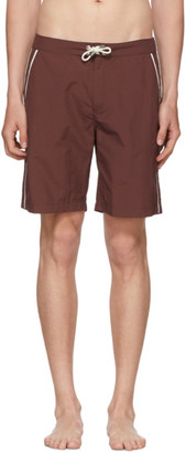 Solid And Striped Solid and Striped Burgundy Piped Board Shorts