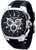 Jorg Gray Men's Quartz Watch with Black Dial Chronograph Display and Black Silicone Strap JG8300-23