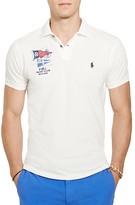 Polo Ralph Lauren Nautical Cotton Mesh Slim Fit Polo Shirt