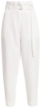 Proenza Schouler Double Belted Linen Pants
