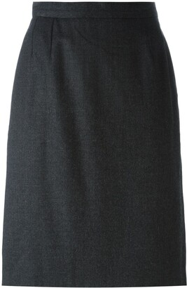 Saint Laurent Pre-Owned straight midi skirt