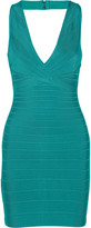 Herve Leger Nadya bandage halterneck dress
