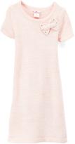 Pink Angel Blush Bow-Accent Metallic Sweater Dress - Toddler & Girls