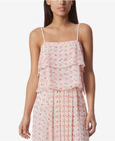 AVEC LES FILLES Constellation-Print Tiered Camisole Top