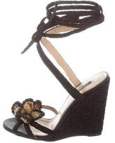 Dolce & Gabbana Woven Floral Wedges w/ Tags