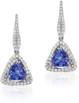 Effy Jewelry Effy Gemma 14K White Gold Trillion Tanzanite and Diamond Earrings, 1.62 TCW