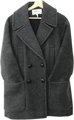 Etoile Isabel Marant Anthracite Wool Coat for Women