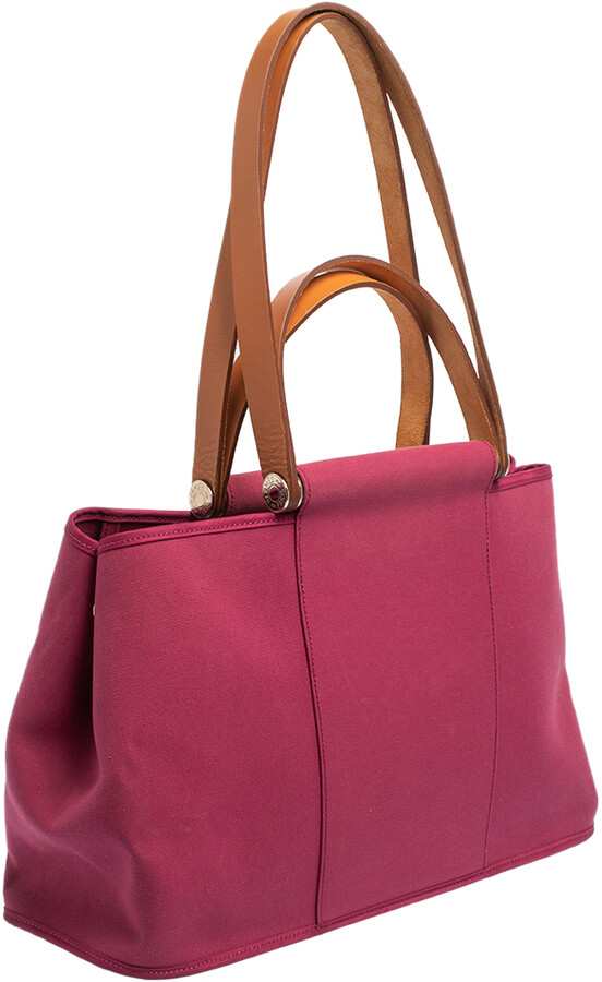 Thumbnail for your product : Hermes Tosca Toile Canvas Cabag Elan Tote