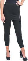 Magid Black Zip-Accent Skirted Leggings - Plus Too