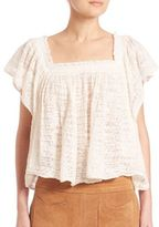 Free People Flutter Sleeve Top