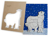 One Kings Lane Feller Polar Bear Puzzle - Blue