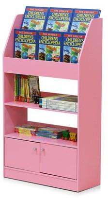 Furinno KidKanac Kids Bookshelf, 4 Tier with Cabinet, Multiple Colors