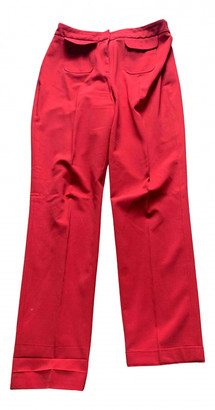 Whistles Red Polyester Trousers