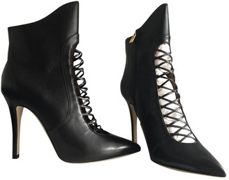 Malone Souliers Black Leather Ankle boots