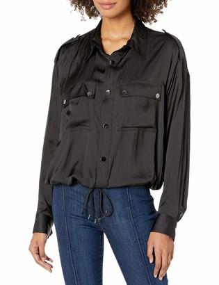 Ramy Brook Women's Shiny SNAP Front LIA Jacket