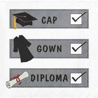 "Creative Converting ""Check List"" Graduation Beverage Napkins"