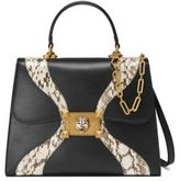 Gucci Osiride Leather & Snakeskin Top Handle Bag
