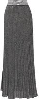 Missoni Pleated Metallic Knitted Maxi Skirt - IT38