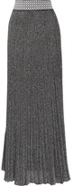 Missoni Pleated Metallic Knitted Maxi Skirt - Silver