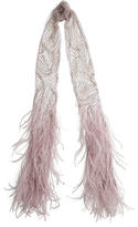Ralph Lauren Beaded Tulle Feather Scarf