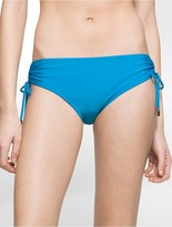 Calvin Klein Solid Side Tie Hipster Swim Bottoms