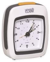 Lewis N. Clark Analog Alarm Clock in White