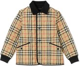 Burberry Vintage check corduroy-trimmed jacket