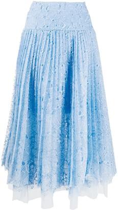 Ermanno Scervino Layered Lace Midi Skirt