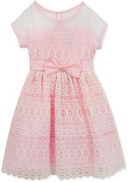 Rare Editions Illusion-Neck Lace Party Dress, Toddler & Little Girls (2T-6X)